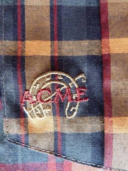 Camisa Bordada Hombre Acme