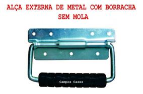 Alça Externa De Metal Com Borracha Para Cases E Maletas