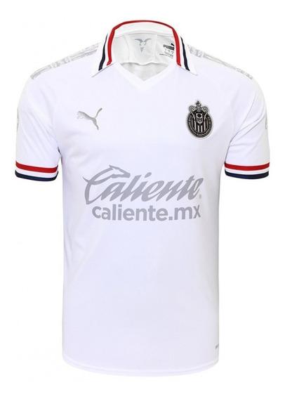 Camiseta Camisa Chivas Guadalajara Torcedor 2020 Branca