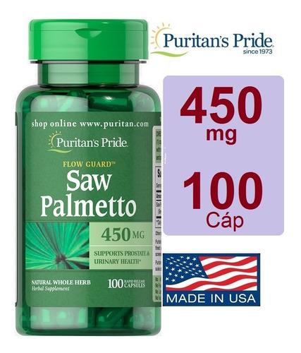 Saw Palmetto 450 Mg 100 Cap - Original - Importado De Eeuu