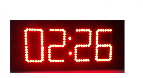Reloj Digital De Pared De Leds Cronómetro Control Remoto