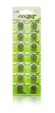 Bateria Moeda Lr44 1.5v Cartela C/ 14 Peças Flexgold