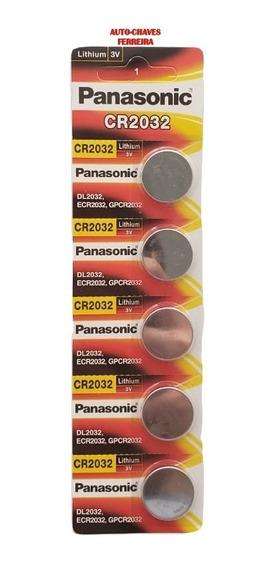 Bateria Lithium Panasonic Cr2032 3v Cartela C/5 Pilhas Moeda