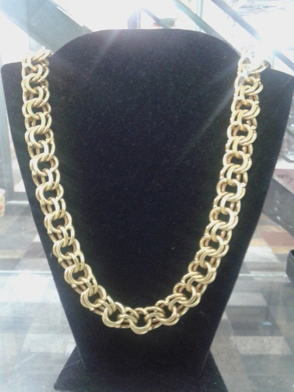 Cordão De Prata 950k Banhado A Ouro 18k
