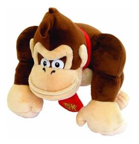 1 Boneco Pelúcia Donkey Kong 20cm Original Nintendo