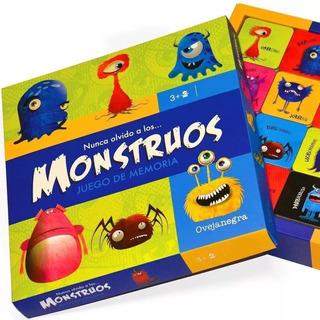 Juego Memoria Memotest Monstruos 44 Piezas Concentracion