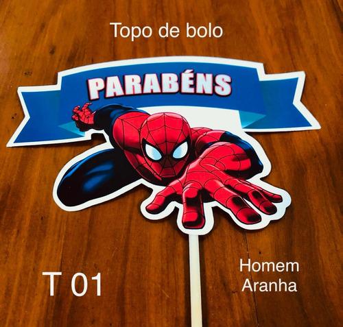 Imagem 1 de 1 de 1 Topo De Bolo Festa Decoração Aniversário Tema Homem Aranha