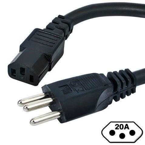 Cabo De Força Tripolar Para Computador Gamer Cpu Monitor 10a