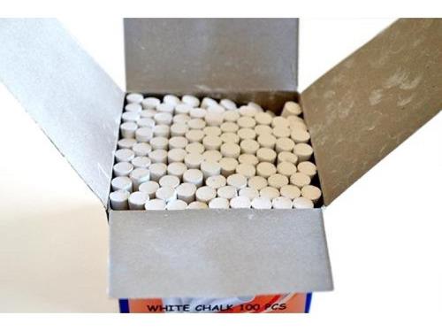 Tiza Blanca Caja  X 100 Unidades