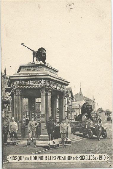 Antigua Postal Exposición Bruselas 1910
