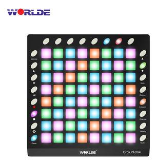 Worlde Orca Pad64 Pro Portable Usb Midi Drum Pad Controlador