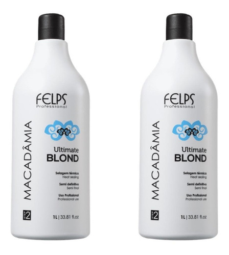 Felps Kit 2 Progressivas Macadamia Ultimate Blond 1 Litro