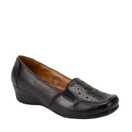 Zapato Confort Dama Con Cuña Shosh Negro 142714 Cft 1-19 J
