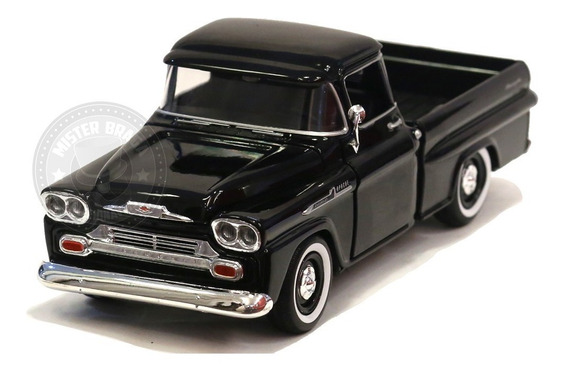 Miniatura Chevy Apache Pick-up 1959 Preta Motormax 1/24