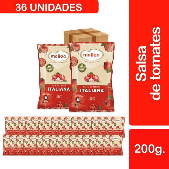 36 Salsas De Tomate Malloa Italiana Tradicional 200 G