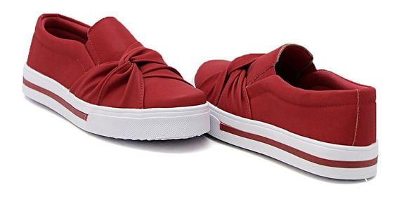 Slip On Dk Shoes Sola Baixa Com Listra Nó Lateral Moda