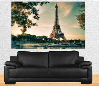 Poster Torre Eiffel Fotografia Adesivado Tamanho 110x68 Cm