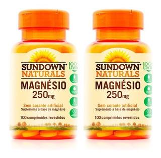 Magnésio 250mg - 2x 100 Comprimidos - Sundown