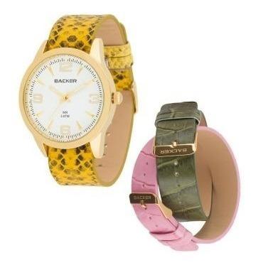 Relógio Original Barato Backer Na Caixa Presente Promoção