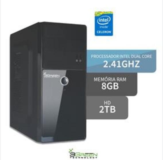 Pc Completo Intel Core Dual- 8gb Ram-2t Hd
