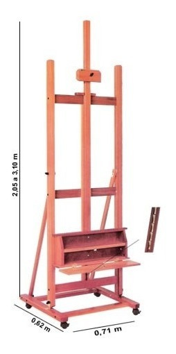 Cavalete Pintura Profissional Estúdio Trident 12220 *frete+b