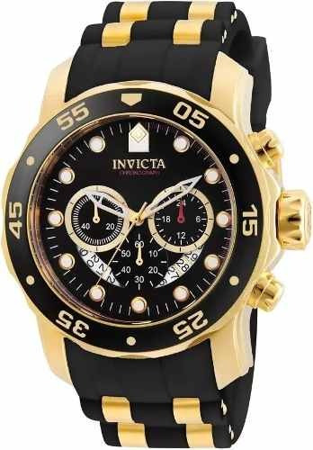 Relógio Pf124 Invicta Pro Diver 6981 Banhado Ouro 18k Promoc