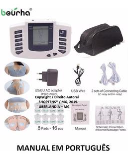 Aparelho Tens Fisioterapia Choquinho Manual Port. C/ Bolsa