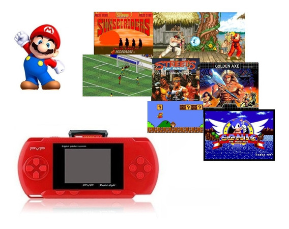 Video Game Portátil Pocket P-6000 Jogos 16 Bits Tipo Psp