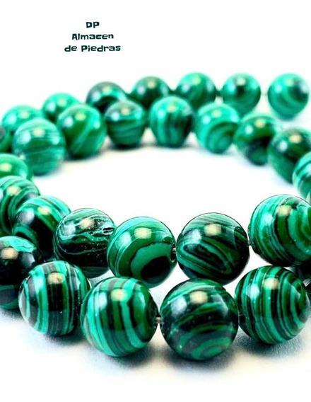 Perlas De Piedra Semipreciosa Malaquita 8mm