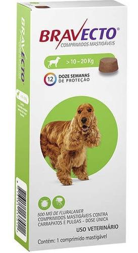 Imagem 1 de 3 de Antipulgas Bravecto Para Cães De 10 A 20 Kg
