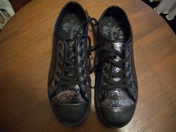 Sapatenis Com Glitter Preto 38