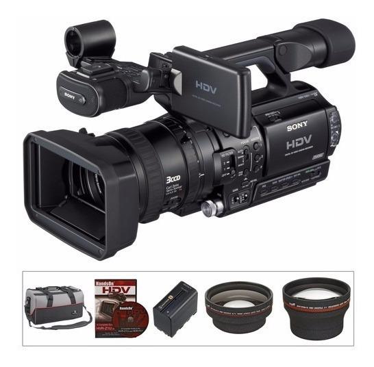 Câmera Sony Hvr-z1 C/ 200h Case Bateria 23 Fitas Dvcam Novas