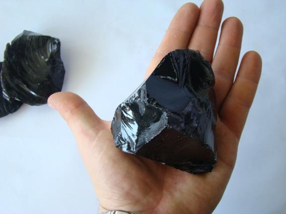 Obsidiana Bruta Natural 250g Pedra Cura Cristais