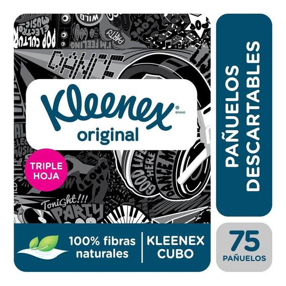 Pañuelos Descartables Kleenex Triple Hoja Cubo X 75 Pañuelos