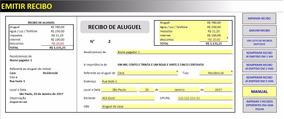 Planilha Recibo De Aluguel C/ Histórico De Emissão - Acx10