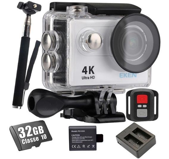 Kit Câmera Eken H9r + 32gb + Baterias + Bastão + Carregador