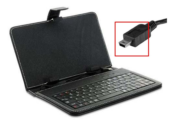 Capa Tablet 7 Polegadas Com Teclado + Caneta Stylus - V3