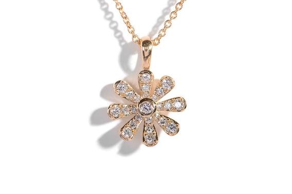 Gargantilla Flor Ostara Con Diamantes En Oro 18k (33877)