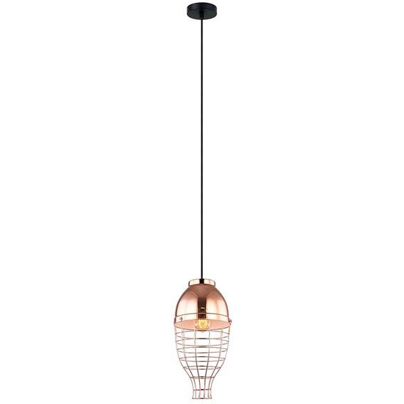 Luminária Pendente Aramado Bronze + Luz Pe-051/1.21bro
