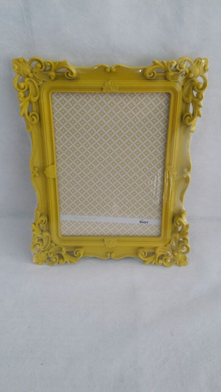 Porta Retrato Provençal 13x18 Amarelo