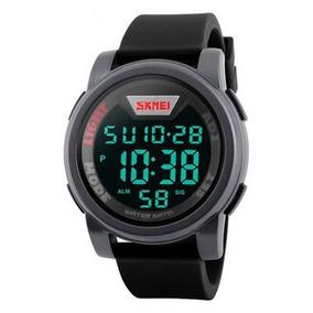 Relógio Digital Esportivo Skmei 1218 Shock Cinza Original