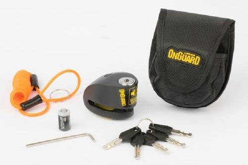 Traba Disco Onguard Moto C/ Alarma, 5 Llaves. En Gravedadx