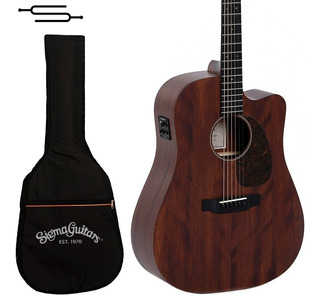 Guitarra Electroacustica Sigma Dmc-15e + Fishman + Funda