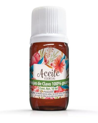 Hojas De Clavo 10 Ml Aceite Esencial 100% Puro 100% Natural