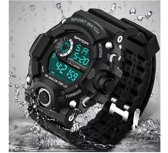 Relógio Sanda Digital Grande Militar Bonito E Resistente