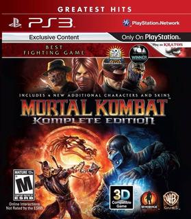 Mortal Kombat 9 Komplete Edition Digital Ps3 Neogamez