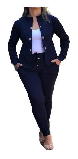 Conjunto Blazer Feminino + Calça Moda Evangélica Plus Size