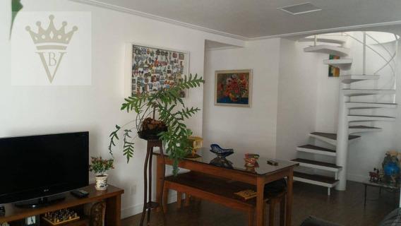 Cobertura Duplex Com 3 Dormitórios, 185 M² - Venda Por R$ 1.810.000 Ou Aluguel Por R$ /mês - Brooklin Novo - São Paulo/sp - Co0050