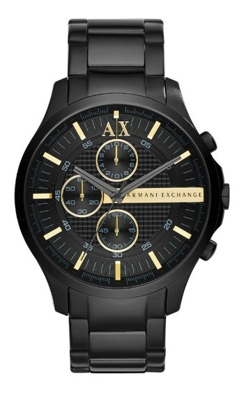Reloj Armani Exchange Ax2164 Negro Con Dorado Envio Gratis