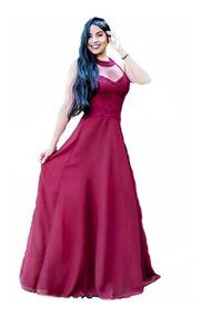Vestido Longo Rose Tiffany Marsala Azul Madrinha Casamento